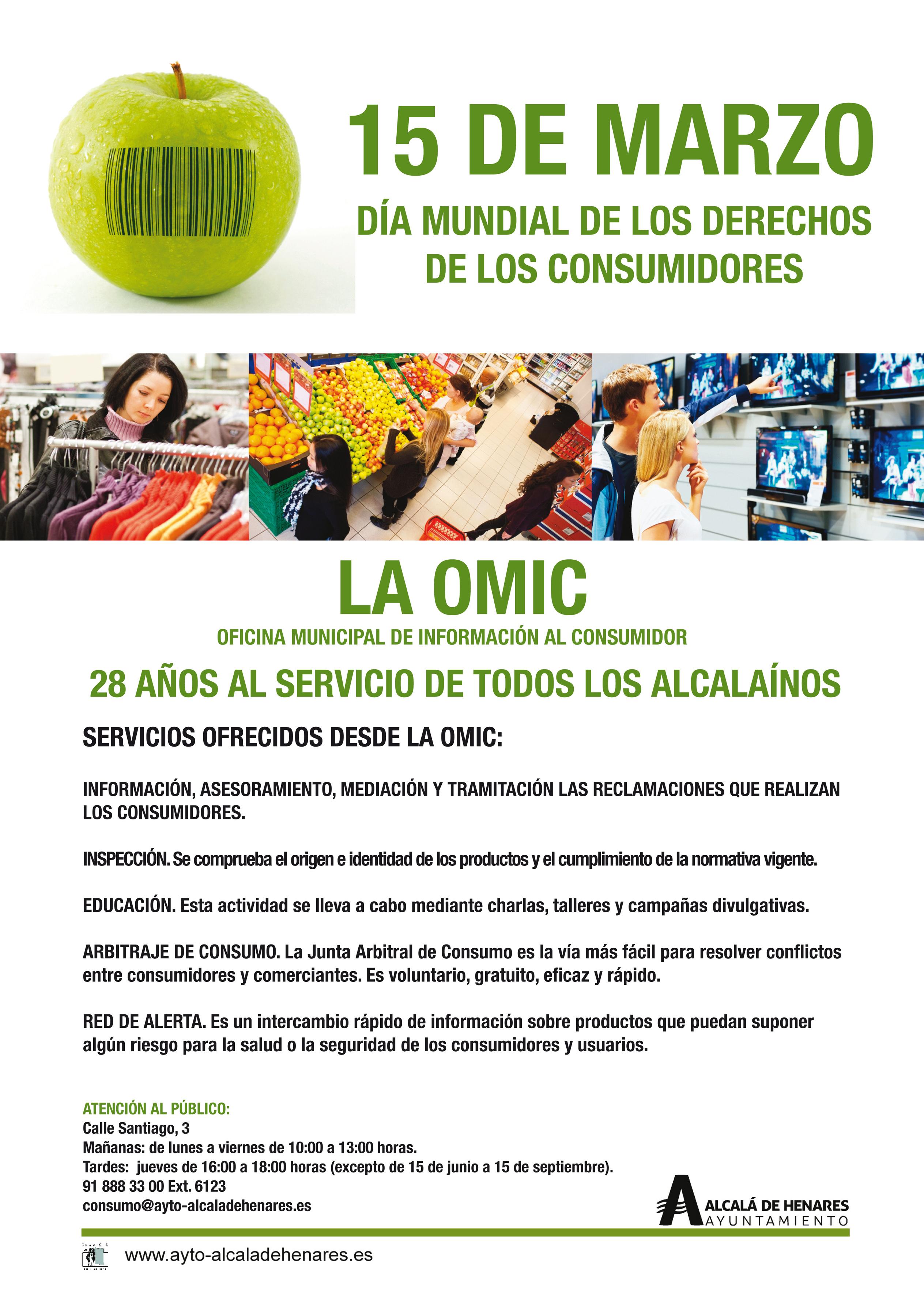 D a de los derechos del consumidor la omic de alcal for Tlf oficina del consumidor